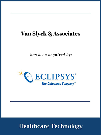 Van Slyck & Associates has been acquired by Eclipsys