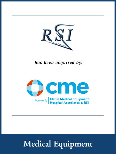 RSI Equipment has been acquired by CME