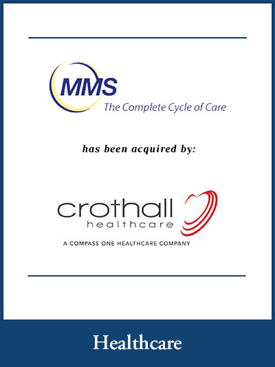 MMS The complete cycle of care has been acquired by crothall  healthcare