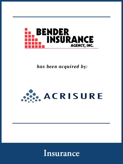 Bender Insurance Agency, Inc has been acquired by ACRISURE