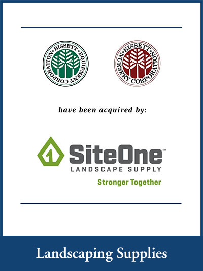 Bisset Nursery & Bisset Equipment Corporation have been acquired by SiteOne Landscape Supply